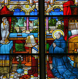 Saint Dominic - Stained Glass Royalty Free Stock Photo