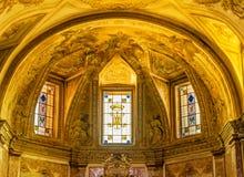 Saint dourado Mary Angels da bas?lica do altar e m?rtir Roma It?lia fotos de stock