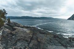 Saint du nord rose au Québec photographie stock libre de droits