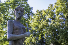 Saint Edmund Sculpture in Bury St. Edmunds Royalty Free Stock Images
