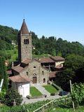 Saint Egidio of Fontanella. From the path to the Monte Canto a view of the church of Saint Egidio of Fontanella. This church, founded at the end of 11th century Stock Photo