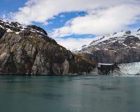 Saint Elias mountain range and Margerie glacier Royalty Free Stock Photos
