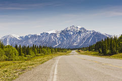 Saint Elias mountain range. Mountains in the Saint Elias range in Kluane Park as seen from the Alaska Highway near Haines Junction in Yukon, Canada Stock Photography