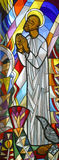 Saint Elijah, stained glass Royalty Free Stock Photography