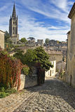 Saint Emilion. Cobbled Street of Saint Emilion in Bordeaux - A Unesco World Heritage Site royalty free stock images