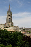 Saint Emilion. France, Saint Emilion- church in town Royalty Free Stock Photo