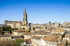 Saint Emilion, Bordeaux, France. Cityscape of Saint-Emilion, Typical town near Bordeaux in France, famous for the viticulture royalty free stock photo
