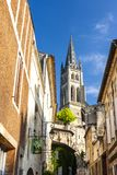 Saint-Emilion, Bordeaux, Francie. Eu europe european union france unesco western architecture building cities city exterior historic historical history house royalty free stock photography