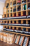 wooden racks with wine Royalty Free Stock Photos