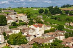 Saint Emilion French village Royalty Free Stock Images