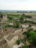 Saint Emilion gamla medeltida byggnader, Frankrike Royaltyfri Fotografi