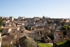 Saint Emilion, Gironde-Aquitaine / France - 03 05 2019 : Beautiful cityscape view on Saint Emilion village in Bordeaux region in. Saint Emilion, Gironde stock photo