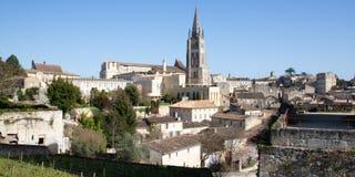 Saint Emilion, la Gironde-Aquitaine/France - 03 05 2019 : vue de paysage de village de Saint Emilion dans la région de Bordeaux images stock