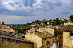 Saint Emilion-stad Bordeaux Frankrijk stock fotografie