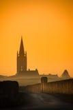 Saint Emilion Sunrise, Bordeaux Vineyard, France. Europe royalty free stock photography
