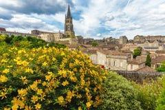 Saint Emilion village. Saint Emilion French village, Unesco heritage, famous for its wine royalty free stock images