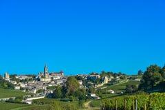 Saint-Emilion-Vineyard landscape-France Stock Photos