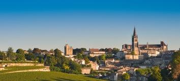 Saint-Emilion-Vineyard landscape-Vineyard south west of France, Stock Photo