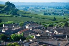Saint-Emilion-Vineyard landscape-Vineyard south west of France, Stock Photography
