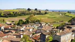 Saint Emilion and the vineyard, near Bordeaux, France Stock Photos