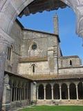 Saint-Emilion. Wonderful church at Saint-Emilion village. Gironde district . Both romanesque and gothic style stock photo