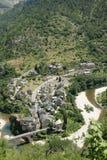 Saint-Enimie village in France. Saint-Enimie village,Gorges du tarn,Lozère,Languedoc-Roussillon region of France Stock Images