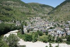 Saint-Enimie village in France Stock Photos