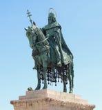 Saint et roi montés à Budapest carré du héros Image libre de droits