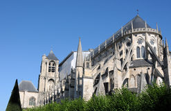 Saint Etienne. Cathedral in Bourges, france Royalty Free Stock Images