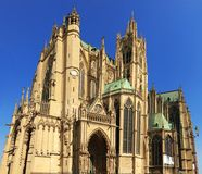Saint Etienne Cathedral, Metz, Lorraine, France, Europe. Saint Etienne Cathedral of Metz, Lorraine, France, Europe Royalty Free Stock Photos