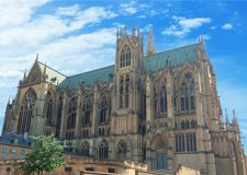 Saint Etienne Cathedral, Metz, Lorraine, France, Europe. Saint Etienne Cathedral of Metz, Lorraine, France, Europe Royalty Free Stock Photo