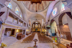 Saint Etienne Catholic in Cahors, France Stock Photos