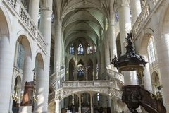 Saint Etienne du mont church, Paris, France Royalty Free Stock Photos