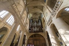Saint Etienne du mont church, Paris, France Stock Image