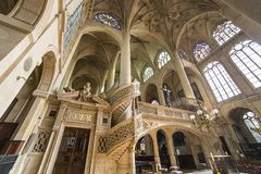 Saint Etienne du mont church, Paris, France Royalty Free Stock Images
