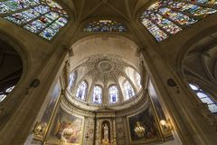 Saint Etienne du mont church, Paris, France Stock Images