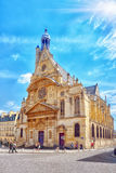 Saint-Etienne-du-Mont is a church in Paris, France, located on t Royalty Free Stock Photography