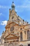 Saint-Etienne-du-Mont is a church in Paris, France, located on t Stock Photo
