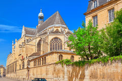 Saint-Etienne-du-Mont is a church in Paris, France, located on t Royalty Free Stock Images
