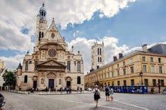Free Saint Etienne Du Mont Church View Stock Photos - 119857573