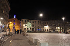 Saint Etienne by night, France Royalty Free Stock Images