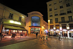 Saint Etienne by night, France Royalty Free Stock Photography