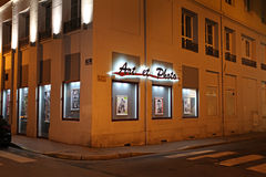 Saint Etienne by night, France Stock Photography