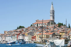 Saint Eufemia church and bell tower in Rovinj Stock Image