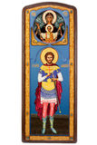 Saint Eugene Militinsky orthodox icon. Isolated on white background with clipping path Royalty Free Stock Photography