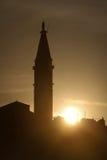 Saint Euphemia bell tower at sunset Stock Photos