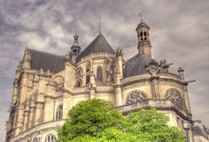 Saint-Eustache cathedral. In Paris, France Stock Image