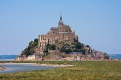 saint för abbeyfrance medeltida michel mont Arkivfoton