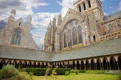 saint för cloisterfrance michel mont Arkivbilder