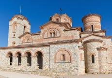 saint för panteleimon för macedonia klosterohrid Arkivfoton